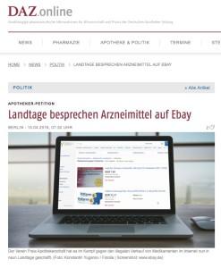 Artikel Verkauf von Arzneimittel auf ebay