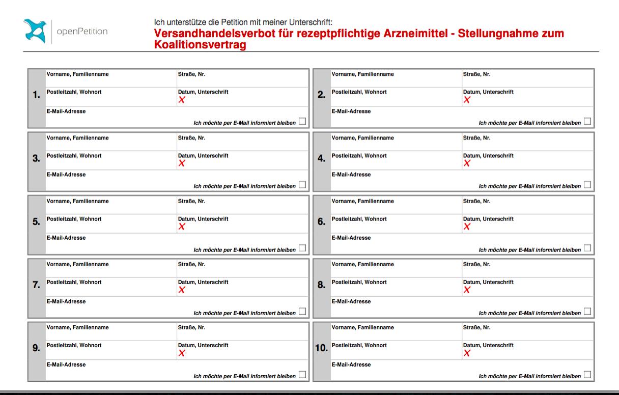 Versandhandelsverbot für rezeptpflichtige Arzneimittel:   Freie Apothekerschaft unterstützt Petition an Deutschen Bundestag